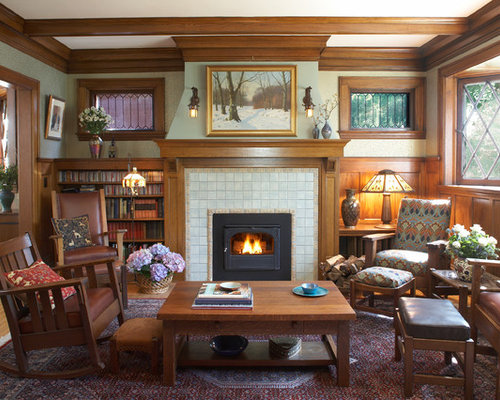 professionally decorated fireplace arts and crafts fireplace houzz