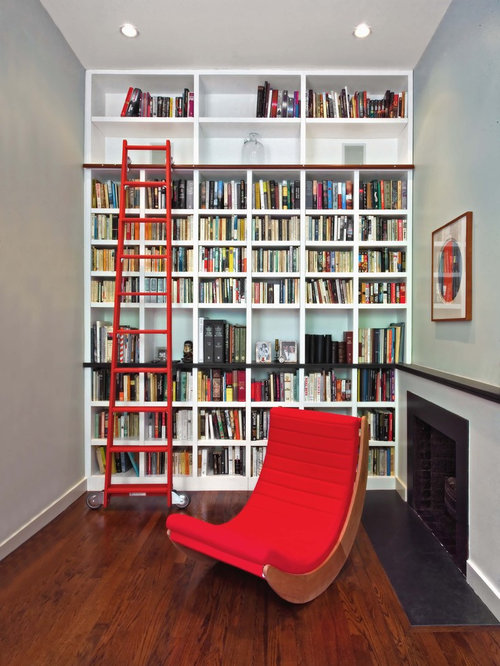 Very small library room houzz Small library room design ideas