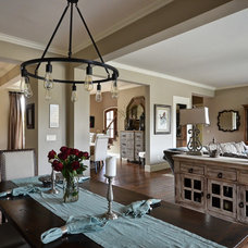 Traditional Family Room by Cobblestone Homes