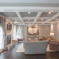 traditional family room by Synergy Design & Construction