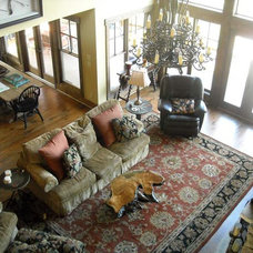 Traditional Family Room by Max Fulbright Designs