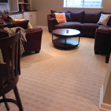 Contemporary Family Room by Michigan Tile and Carpet