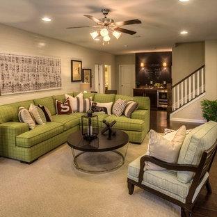 Elegant family room photo in Atlanta