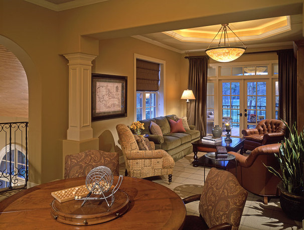 Traditional Family Room by Design Basics Home Plans
