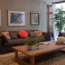 Asian Family Room by Nina Williams Interiors