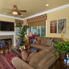 Asian Family Room by Style On a Shoestring