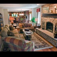 Traditional Family Room by Jon Blunt, ASID at Luken Interiors