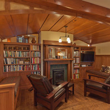 Craftsman Family Room by Kaegebein Fine Homebuilding