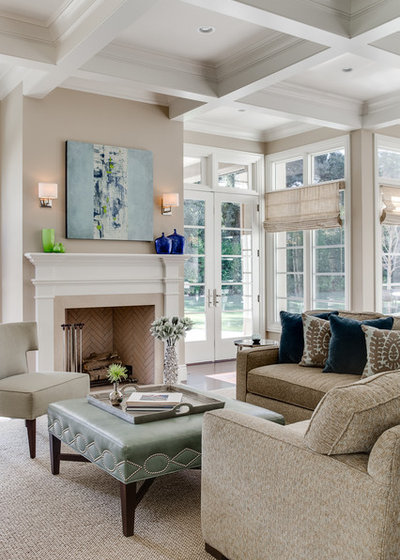 Traditional Family Room by KL Interiors