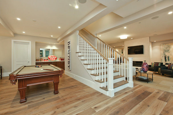 Transitional Family Room by Clarum Homes