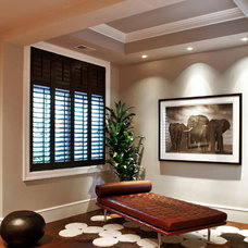 Contemporary Family Room by moment design + productions, llc