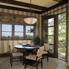 Mediterranean Family Room by Amoroso Design