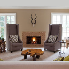 Transitional Family Room by Robin LaMonte/Rooms Revamped