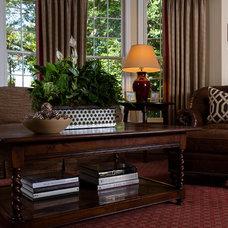 Traditional Family Room by Kathleen Kellett Interiors