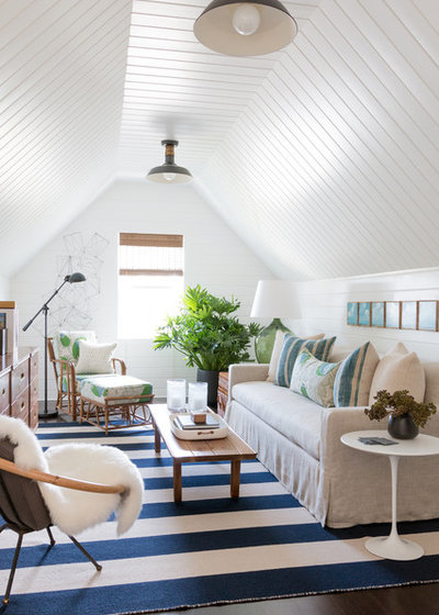 Beach Style Family Room by Matthew Caughy Interiors