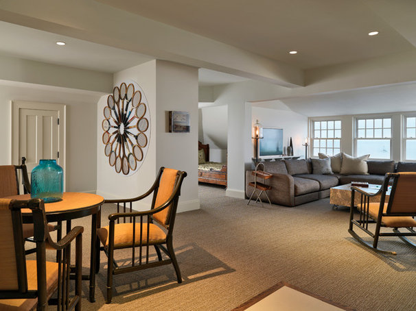 Contemporary Family Room by Duffy Design Group