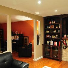 Contemporary Family Room by Idevoks Design
