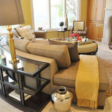 Contemporary Family Room by Elaine Williamson Designs