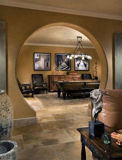 Mediterranean Family Room by Authentic Durango Stone™