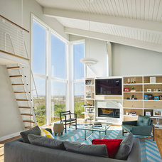 Beach Style Family Room by McCoubrey/Overholser, Inc.