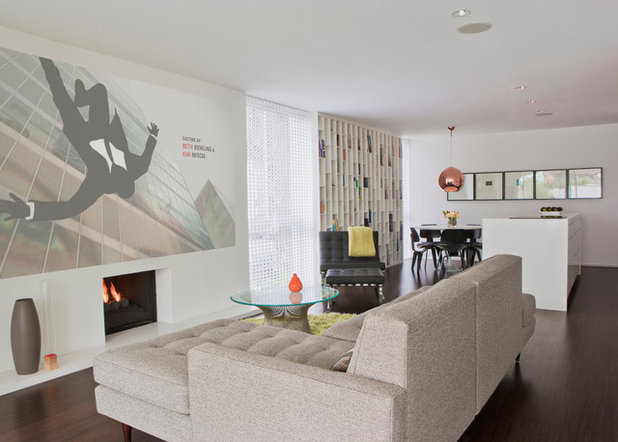 Midcentury Family Room by werkshop