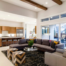 Contemporary Family Room by John Lively & Associates