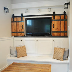 traditional media room by 12th Ave Homes, LLC