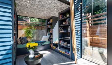 愛書家が建てた裏庭のコテージ