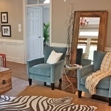 Eclectic Family Room by Ally Whalen Design