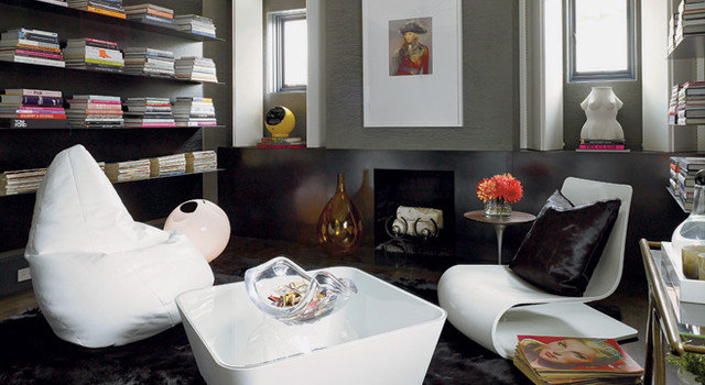 Eclectic Family Room by Mark English Architects, AIA