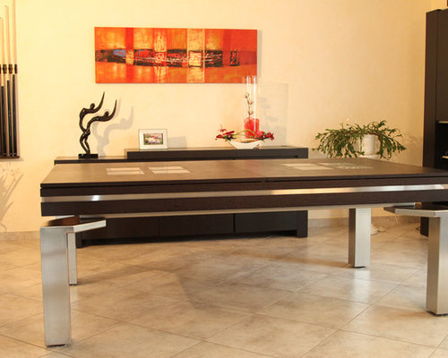 Baker Stainless Dining Pool Table Dallas Texas With Ball Return
