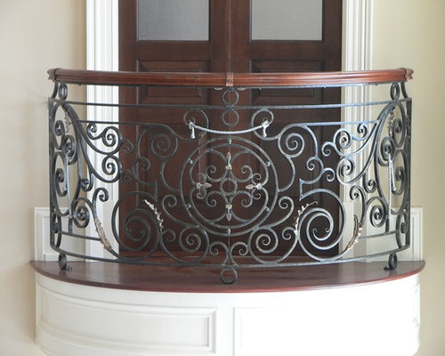 Curved Front Elevation Designs : Curved balcony railing home design ideas pictures