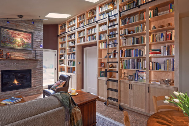 Craftsman Family Room by Potter Construction Inc