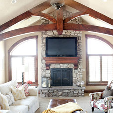 Eclectic Family Room by Caitlin Wilson