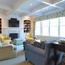 Modern Family Room by Priscilla Fenlin Interiors