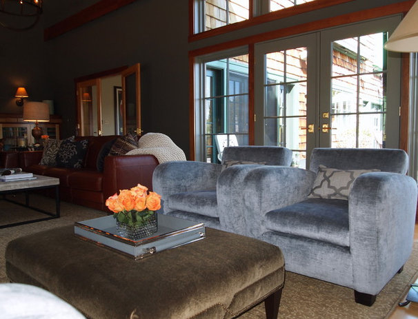 Transitional Family Room by Elizabeth Reich