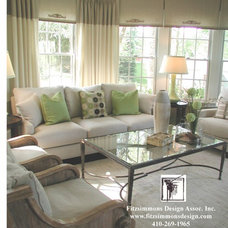 Contemporary Family Room by Gina Fitzsimmons ASID