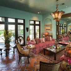 Mediterranean Family Room by Thompson Custom Homes