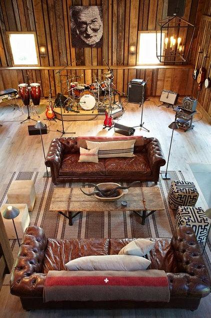 Farmhouse Family Room by Kelly & Co.