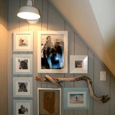 Contemporary Family Room by Barn Light Electric Company