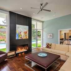 Contemporary Family Room by Dennis Mayer, Photographer