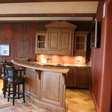 Traditional Family Room by Priebe's Creative Woodworking