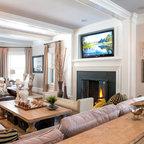 Custom Sammamish Home Transitional Living Room