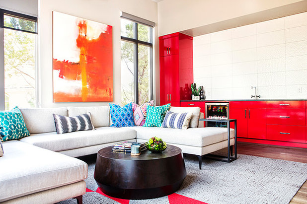 Eclectic Family Room by Etch Design Group