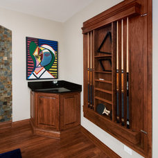 Traditional Home Theater by Design First  Builders