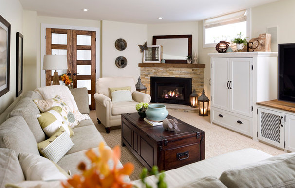 Traditional Family Room by Laura Stein Interiors