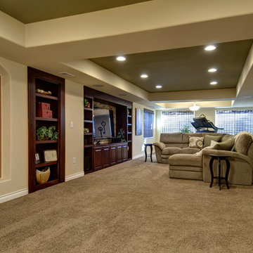 Basement Great Room and Home Theater