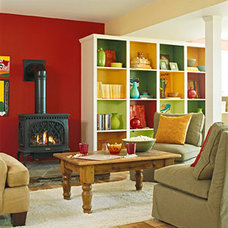 Eclectic Family Room Basement