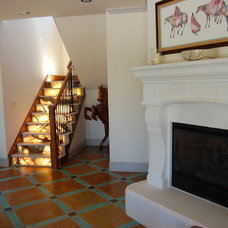 Eclectic Family Room by Matt Patterson Custom Homes