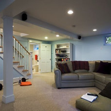 Contemporary Family Room by GMT Home Designs Inc.
